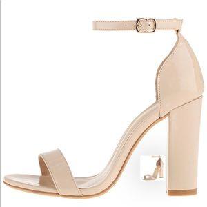 Women's strappy chunky high heel